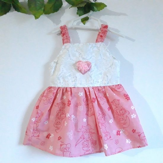 Baby Girl Frocks Cotton Fabric With Bow Upto 1 Years (Pack Of 2) Price in Pakistan