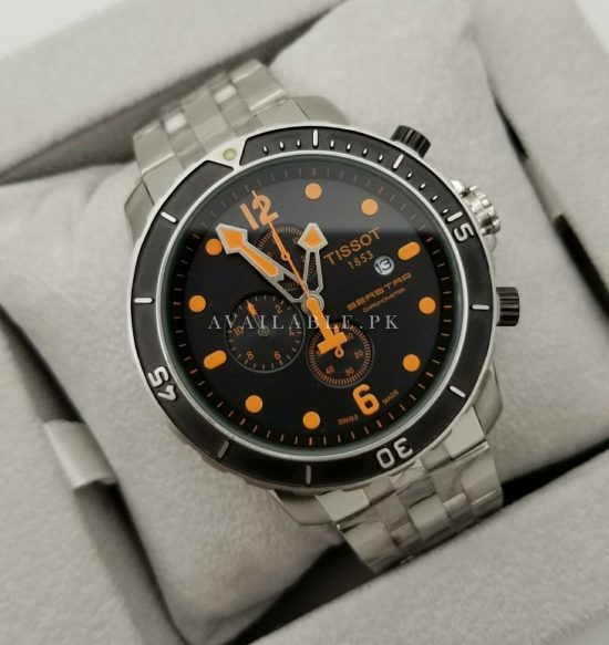 Tissot Seastar 1000 Orange Dial Mens Watch Price in Pakistan