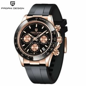 Pagani Design PD-1664 Rubber Men Black Copper Watch