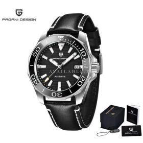 Pagani Design PD-1668 Black in Leather Automatic Men Watch