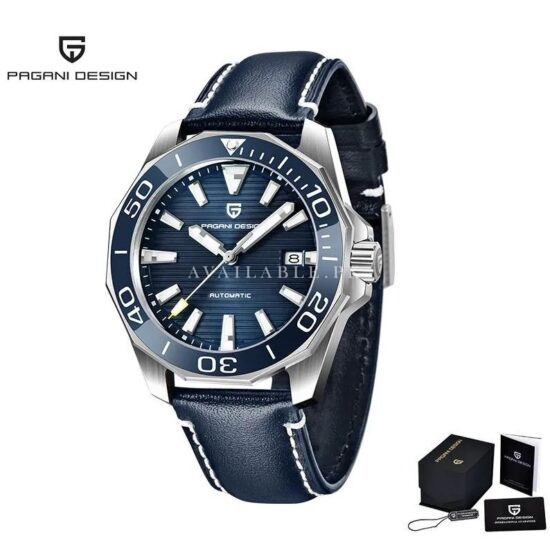Pagani Design PD-1668 Blue in Belt Automatic Men Watch Price in Pakistan
