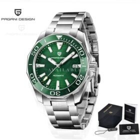 Pagani Design PD-1668 Stainless Steel Green Automatic Men Watch