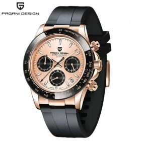 Pagani Design PD-1664 New Rubber Strap Luxury Sapphire Glass Sports Watch Men Chronograph Watch Men Quartz Wristwatch