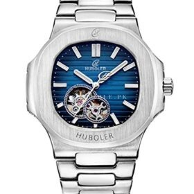 Huboler 39mm Scarving Skeleton Tourbillon Automatic Blue Mens Watch price in Pakistan