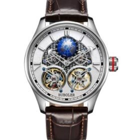 Huboler Luminous Multifunctional White Dial Tourbillon Mens Watch Price in Pakistan